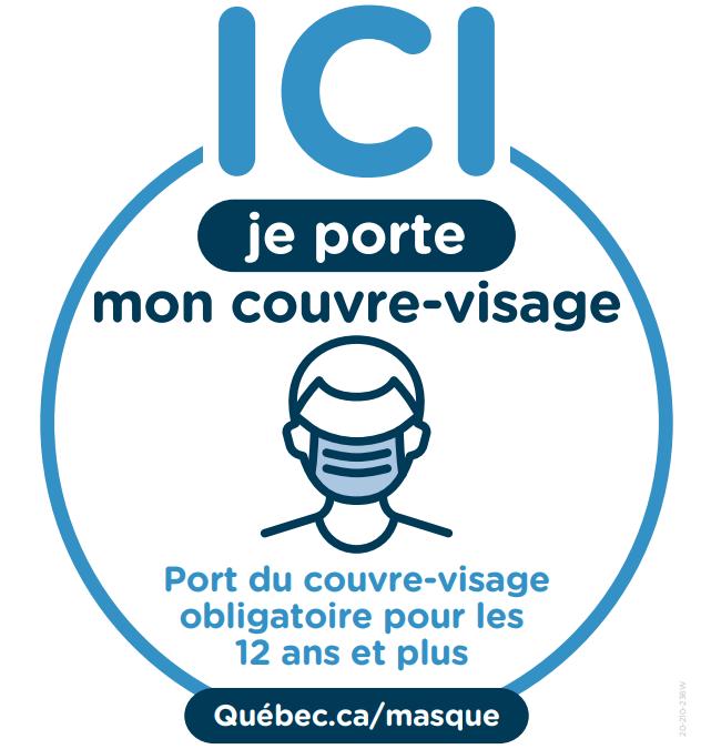 LE PORT DU COUVRE-VISAGE EST MAINTENANT OBLIGATOIRE À L'HÔTEL DE VILLE